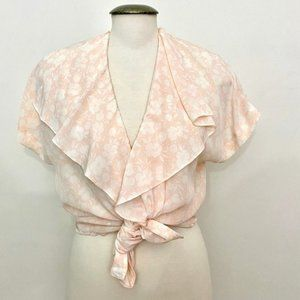 Vintage - Flower and Peach Blouse